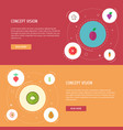 set of berry icons flat style symbols with grapes vector image