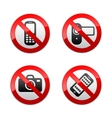 set prohibited signs - gadget vector image vector image