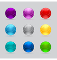 shiny balls different colors vector image vector image