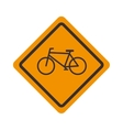 sign icon bicycle road design vector image