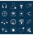 Social network icons outline vector image vector image