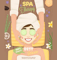 spa skincare routine poster vector image vector image