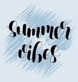 summer vibes lettering vector image vector image