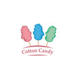 sweet cotton candy emblem vector image vector image