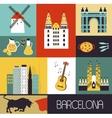 symbols barcelona vector image vector image