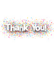 Thank you paper banner vector image vector image