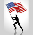 the united states of america flag bearer vector image vector image