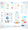 timeline infographic design template with paper vector image vector image