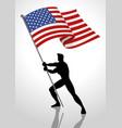 united states america flag bearer vector image vector image