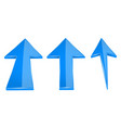 up arrows blue straight moving up 3d icons vector image