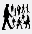 Walking people silhouettes vector image vector image