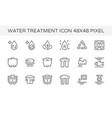 water treatment icon vector image vector image