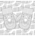 Winter knitted mittens on Sock for gift from Santa vector image