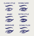 woman eyes makeup pen sketch vector image
