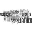 women s and men s leather motorcycle jackets and vector image vector image