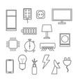 electronics icon set on white background vector image