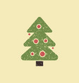 the symbol of the celebration of christmas and new vector image