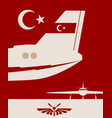vertical banner with the image of an airplane tail vector image