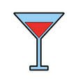color red cocktail cartoon vector image
