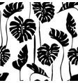 abstract tropical art seamless pattern monstera vector image vector image
