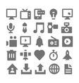 Advertising and Media Icons 1 vector image vector image