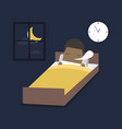 african businessman is sleeping on the bed vector image