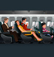 airline passengers vector image vector image