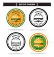 american burger emblem vector image vector image