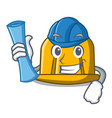 architect construction helmet character cartoon vector image