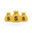 bag money logo template sack money money vector image vector image