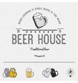 Beer badges logos and labels for any use vector image vector image