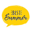best summer creative graphic lettering vector image vector image