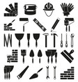 black and white 30 construction silhouette vector image vector image