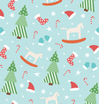 Blue New Year pattern vector image vector image