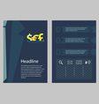 Brochure business concept style vector image vector image