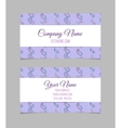 Business card template Asian paisley vector image