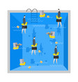 businessman in pool corporate rest of company vector image