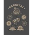 Carnival vintage badges vector image vector image