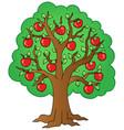 cartoon apple tree vector image