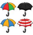cartoon umbrellas vector image vector image