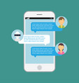 chat bot robot speech internet ai service mobile vector image