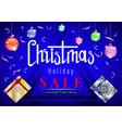 christmas holiday sale vector image vector image