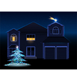 christmas house vector image vector image