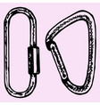 climbing carabiner vector image vector image