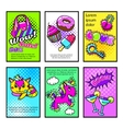 Comic Posters Set vector image vector image