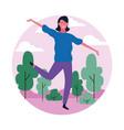 dancing woman avatar vector image