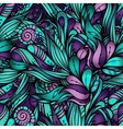decorative nature ornamental seamless pattern vector image