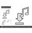Download music line icon vector image vector image