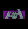 dracula halloween count dracula costume vector image vector image