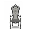 Elegant Baroque ornamented luxury armchair vector image vector image